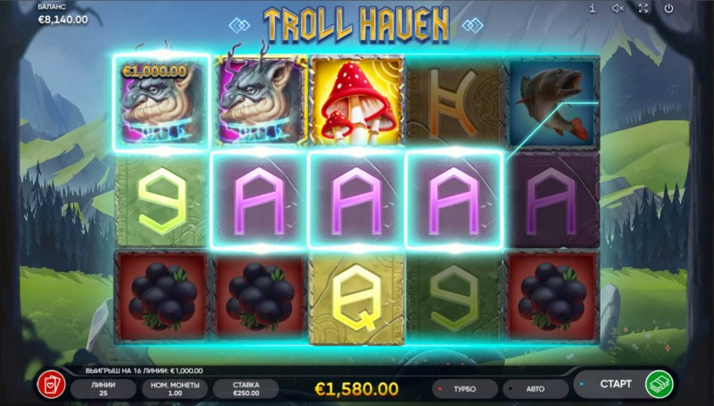 Troll Haven :: Multiple winning paylines