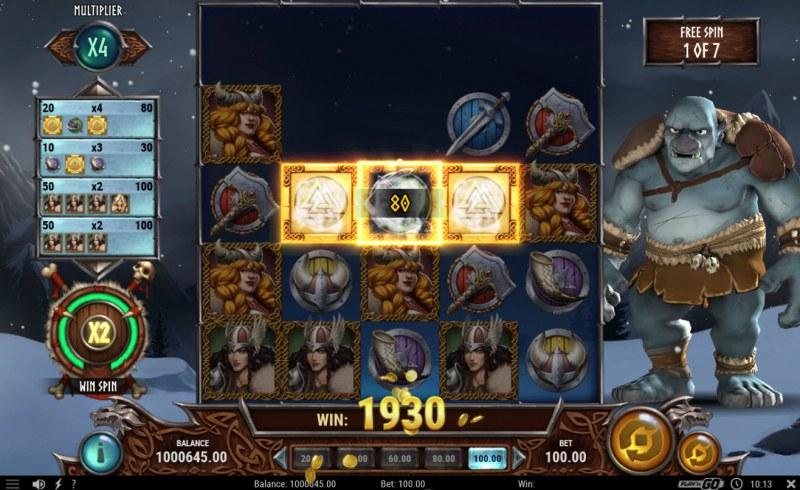 Troll Hunters 2 :: Free Spins Game Board