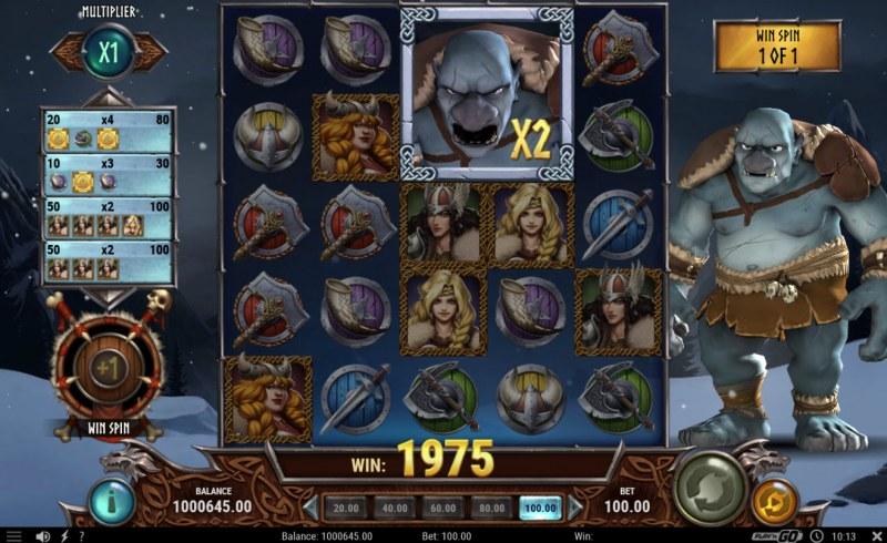Troll Hunters 2 :: Wild multiplier added to reels