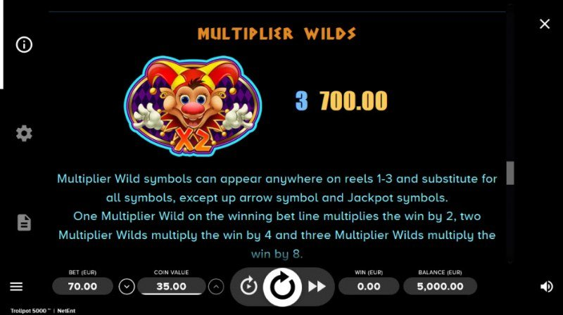 Trollpot 5000 :: Multiplier Wilds