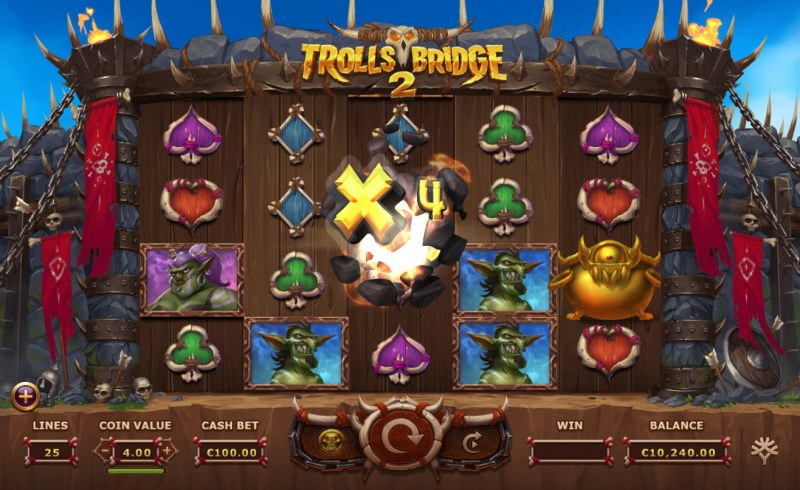 Trolls Bridge 2 :: X4 Win Multiplier Awarded