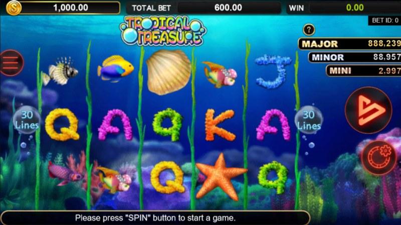 Tropical Treasures :: Main Game Board