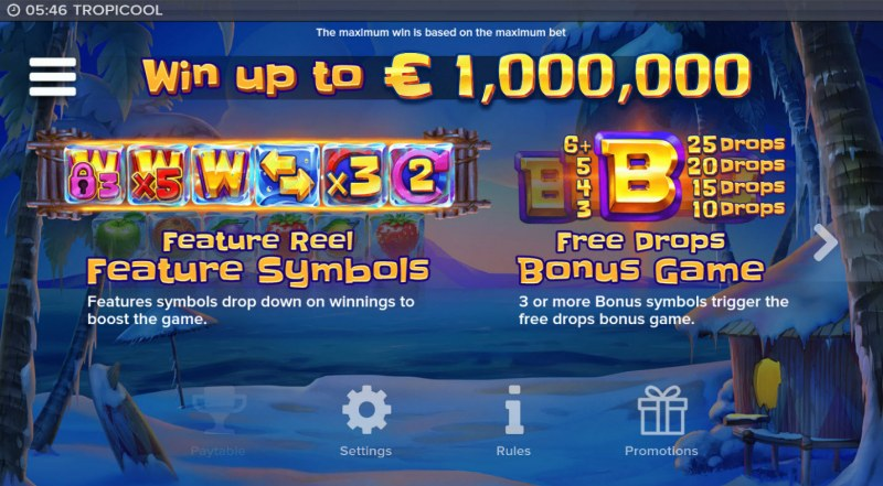Tropicool :: Win Up To $1,000,000