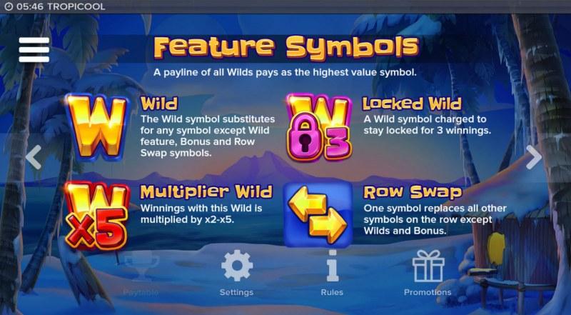Tropicool :: Feature Symbols
