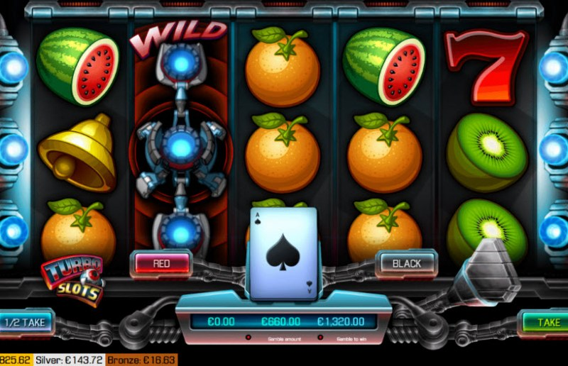 Turbo Slots :: Red or Black Gamble Feature