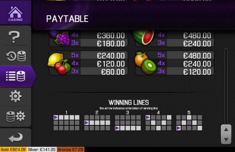 Turbo Slots :: Paylines 1-5