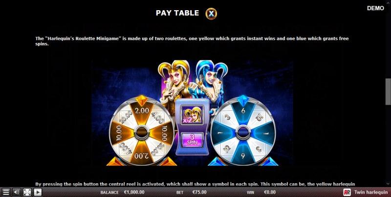 Twin Harlequin :: Bonus Game Rules
