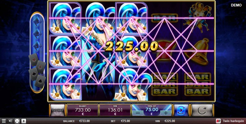 Twin Harlequin :: Multiple winning paylines