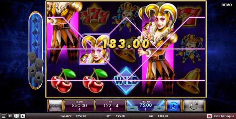 Twin Harlequin :: Multiple winning combinations