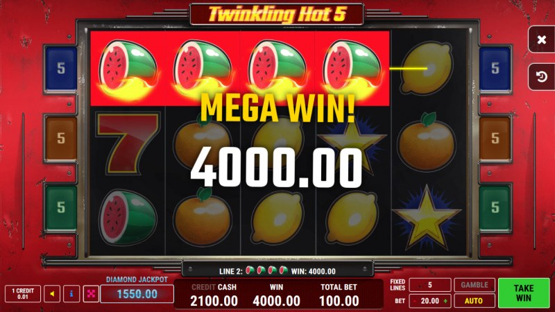 Twinkling Hot 5 :: Mega Win
