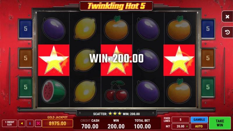 Twinkling Hot 5 :: Scatter Win