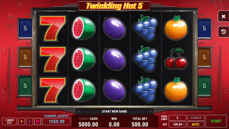 Twinkling Hot 5 :: Main Game Board