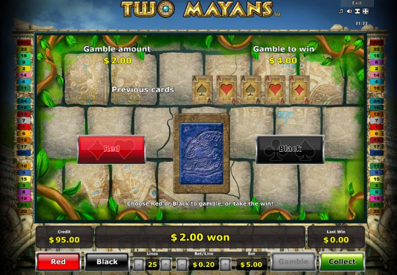 Two Mayans :: Red or Black Gamble Feature