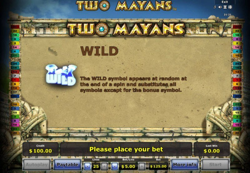 Two Mayans :: Wild Symbols Rules