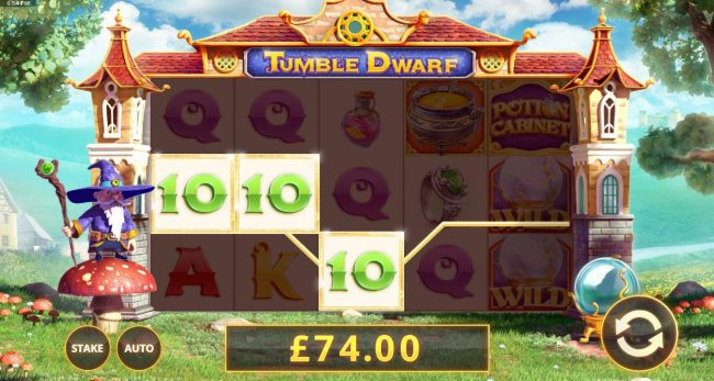 Melbet featuring the Video Slots Tumble Dwarf with a maximum payout of $50,000