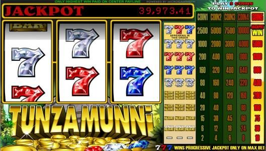 Play slots at Vegas Joker: Vegas Joker featuring the Video Slots Tunzamunni 3 Reel with a maximum payout of Jackpot