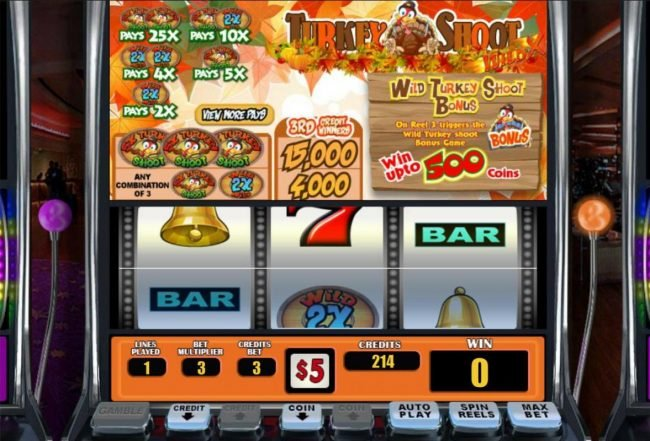 Play slots at Intertops Classic: Intertops Classic featuring the Video Slots Turkey Shoot Wild X with a maximum payout of $75,000