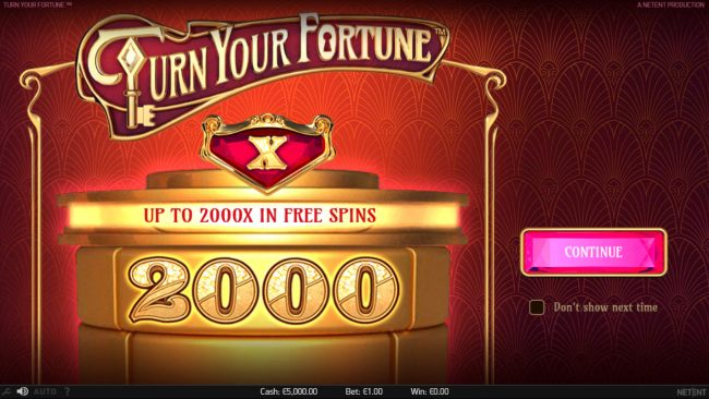 Sin Spins featuring the Video Slots Turn Your Fortune with a maximum payout of $400,000