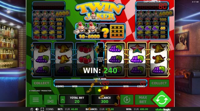 Casumo featuring the Video Slots Twin Joker with a maximum payout of 97.79