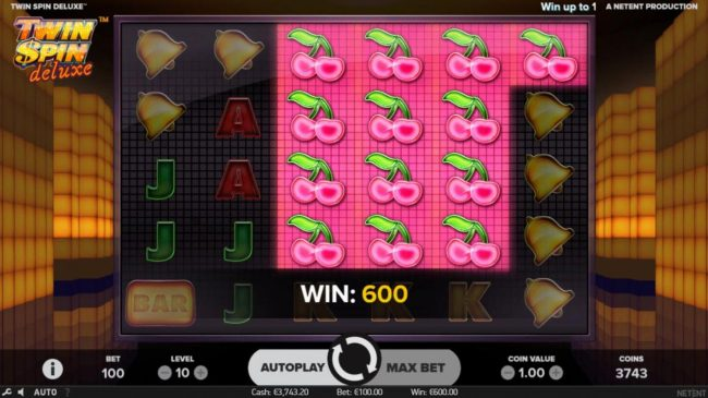 Betting Ways featuring the Video Slots Twin Spin Deluxe with a maximum payout of $100,000