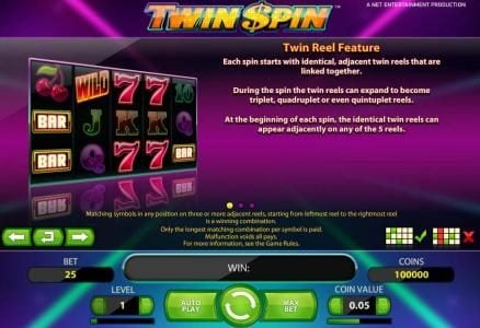Twin Spin :: twin real feature rules