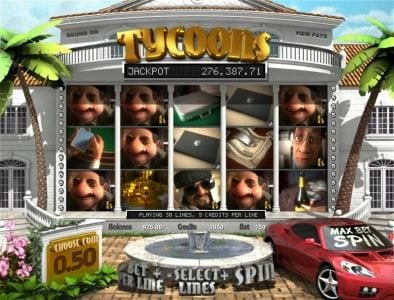 Slots Jackpot featuring the Video Slots Tycoons with a maximum payout of $7,500