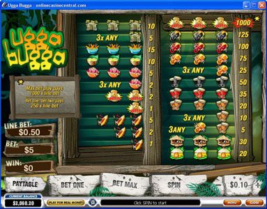 MANSION featuring the Video Slots Ugga Bugga with a maximum payout of $25,000