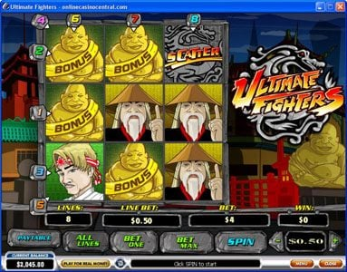 William Hill Casino Club featuring the video-Slots Ultimate Fighters with a maximum payout of $75,000