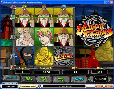 Europlay featuring the video-Slots Ultimate Fighters with a maximum payout of $75,000