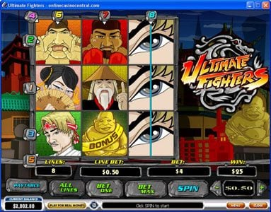 MANSION featuring the video-Slots Ultimate Fighters with a maximum payout of $75,000