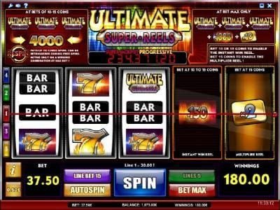 emu Casino featuring the Video Slots Ultimate Super Reels with a maximum payout of Jackpot