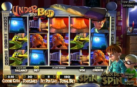 Casinia featuring the Video Slots Under The Bed with a maximum payout of $1,250