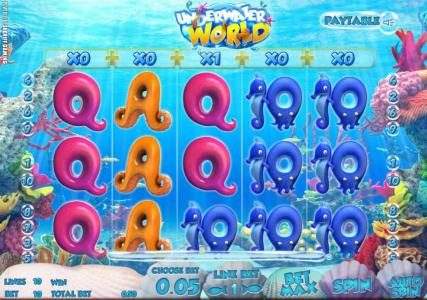 Casino Kaiser featuring the Video Slots Underwater World with a maximum payout of $500