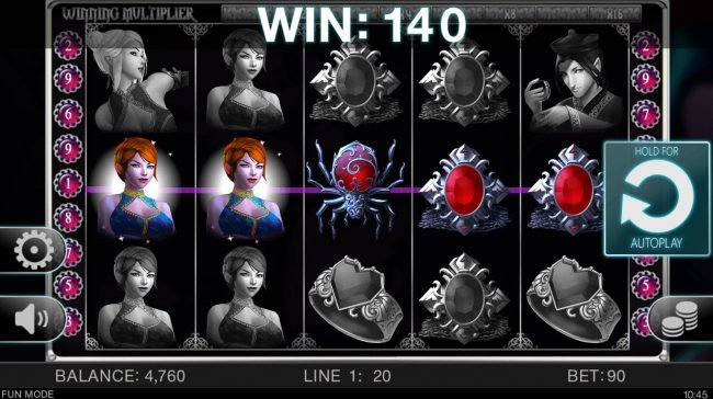 Undying Passion :: Multiple winning paylines