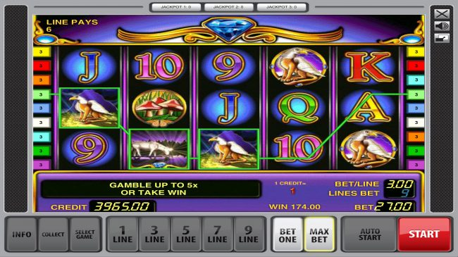 Fun Casino featuring the Video Slots Unicorn Magic with a maximum payout of $90,000