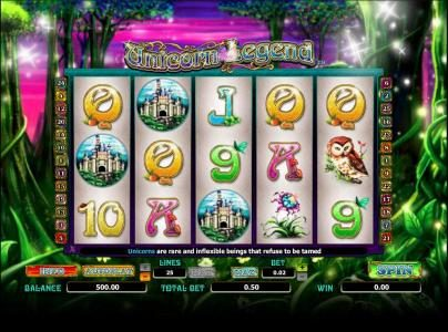 Play slots at Vera&John: Vera&John featuring the Video Slots Unicorn Legend with a maximum payout of 2000x