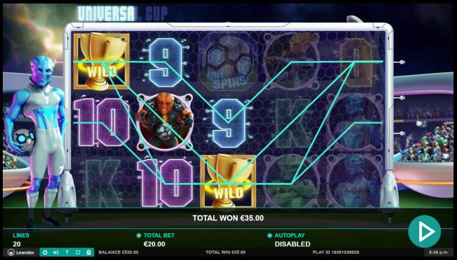333 Palace featuring the Video Slots Universal Cup with a maximum payout of $50,000