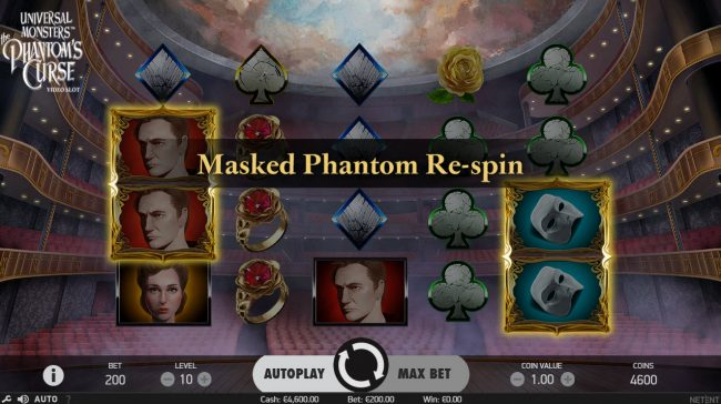 Euro Slots featuring the Video Slots Universal Monsters The Phantom's Curse with a maximum payout of $400,000