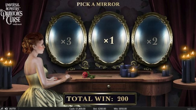 Betchan featuring the Video Slots Universal Monsters The Phantom's Curse with a maximum payout of $400,000