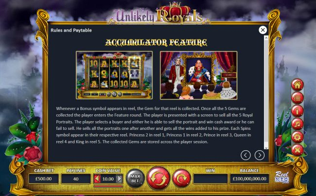 Unlikely Royals :: Accumulator Feature
