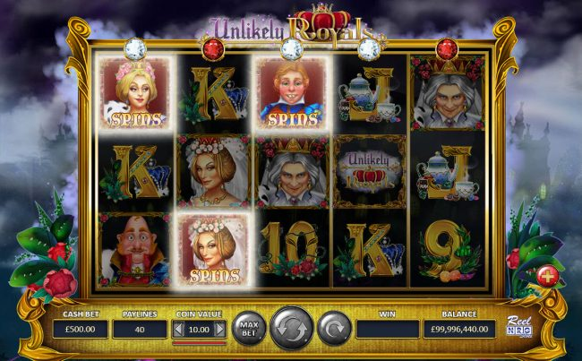 Unlikely Royals :: Mini Reel Feature triggered by 3 spin symbols