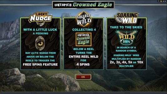 Lucky Nudge, Collect a Wild and Soaring Wild game features,