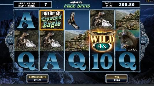 Aztec Ritces featuring the Video Slots Untamed Crowned Eagle with a maximum payout of $90,000