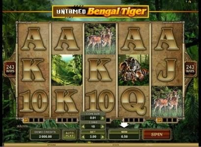 Play slots at Music Hall: Music Hall featuring the Video Slots Untamed Bengal Tiger with a maximum payout of $90,000
