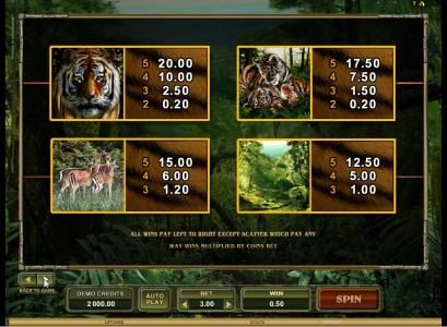 Casumo featuring the Video Slots Untamed Bengal Tiger with a maximum payout of $90,000