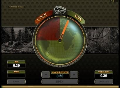 here is an example showing the gamble feature