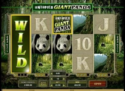 Play slots at Jackpot Knights: Jackpot Knights featuring the Video Slots Untamed Giant Panda with a maximum payout of $90,000