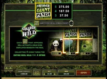 Challenge featuring the Video Slots Untamed Giant Panda with a maximum payout of $90,000