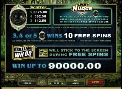 Lucky 247 featuring the Video Slots Untamed Giant Panda with a maximum payout of $90,000