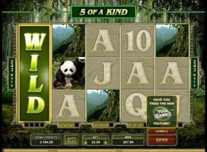 Lucky Dino featuring the Video Slots Untamed Giant Panda with a maximum payout of $90,000